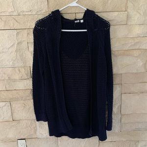 Gap Navy long sweater cardigan